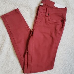 NWT Loft Outlet Modern Skinny Pink Jeans Size 0P